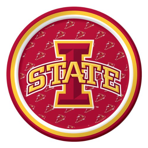 Creative Converting Iowa State Cyclones Dessert Paper Plates (8 Count) - 1