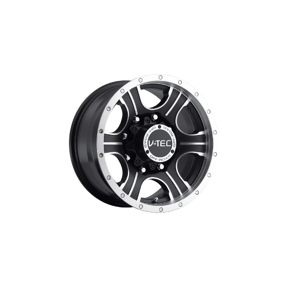 Vision Assassin 16 Machined Black Wheel / Rim 6x5.5 with a 0mm Offset and a 110 Hub Bore. Partnumber 396 6883MBMF0