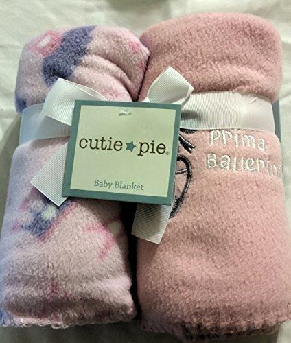 Cutie Pie Prima Ballerina 2 Pack Fleece Blankets Pink