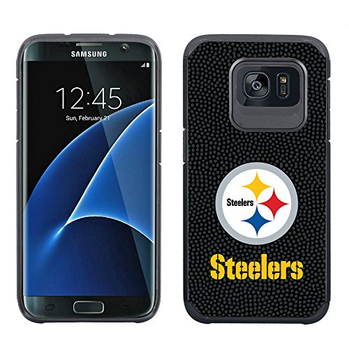NFL Pittsburgh Steelers Football Pebble Grain Feel Samsung Galaxy S7 Edge Case, Team Color at SteelerMania