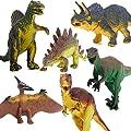 Model Dinosaur Set Tyrannosaurus Stegosaurus Triceratops Utahraptor Spinosaurus Pterosaur Kids Toy 6Pcs