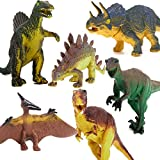 Este dinosaurio set tiene 6 pcs diferentes dinosaurios, incluyendo Tyrannosaurus, Stegosaurus, triceratops, utahraptor, Spinosaurus y pterosaurio.Con excelentesdetalles yrealista dela forma,quepuede traerde vuelta adinosaurioedades.Este din...