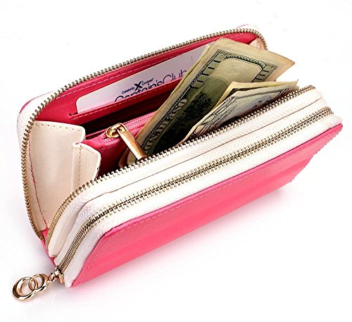 Daisy Pink/White MustHave Wristlet Wallet Case for Samsung Galaxy A3 (2016), J1 (2016), S6, S5 mini, S4 S4 Mini, S3 S2 Smartphone (Forro Para Samsung Galaxy S4 Mini compare prices)