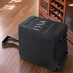 wine check bag only black 7742 wine cabinets
