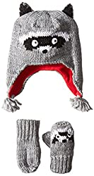 The Children's Place Big Girls' Racoon Set, Heather Grey, Large/4T-5T
