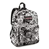 JanSport High Stakes Backpack, White/Black Crayon Flower