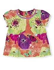 Autograph Pure Cotton Butterfly Print Top