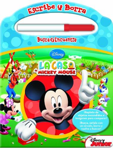 Casa De Mickey. Escribe Y Borra. Busca Y Encuentra