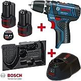 Bosch GSR 10,8-2-LI Professional Akkuschrauber 2,0 Ah mit Einlage