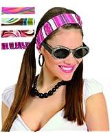 70s Headbands 4 Colors Asstd Hat for 70s Disco Hippy Hippie Fancy Dress