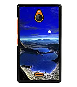 printtech Moonlight Other Planet Back Case Cover for Nokia X2 Dual SIM