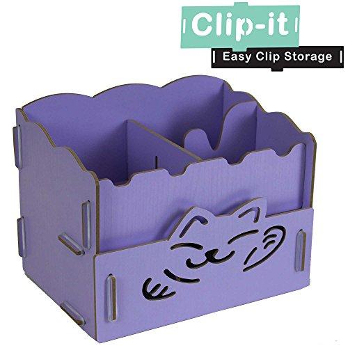 jvl-clip-it-purple-cat-wooden-clip-together-diy-storage-desk-tidy-box-drawer