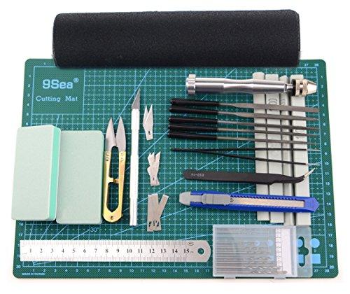LENX 25 PCS Gundam Modeler Basic Tools Craft Set For Car Model Assemble Building(E) (Model A Car compare prices)