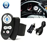 AGPtek Wireless Bluetooth Steering Wheel Handsfree Car Speaker Built-in Microphone Phone Kit For iphone 6 iphone5s 5 5c Samsung Galaxy S5 S4 S3 Note 3 2