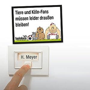 Anti-Köln-Klingelschild - Leverkusen-, Düsseldorf- und alle Fußball-Fans aufgepasst. Witziges Geschenk für Freunde, Kollegen, Geburtstage und Partys - Klingelschilder, Büroschilder, Türschilder, Warnschilder, Hunde Verbotsschilder Zutrittsschild, Ei