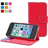 Snugg™- Coque Pour iPhone 4/ 4s - Étui À Rabat En Cuir Avec Une Garantie À Vie (Rouge) Pour Apple iPhone 4 / 4s