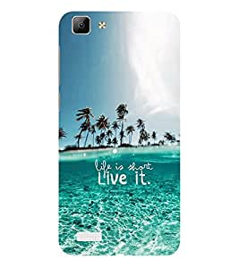 ifasho life is short live it Back Case Cover for VIVO Y53