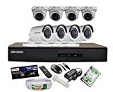 HIKVISION 8CH- DS-7208HGHI-E1-Turbo-HD-720P-DVR + HIKVISION TURBO DOME BULLET CAMERA 8pcs + 500 GB WD HDD + CABLE 3+1 COPPER + POWER SUPPLY (FULL COMBO)