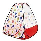 eWonderWorld Jumbo Red Polka Dot Teepee Twist Play Tent w/ Safety Meshing for Child Visibility & Tote Bag by eWonderWorld