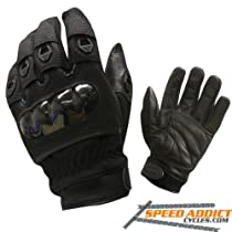 Olympia 734 Digital Protector Motorcycle Sport Gloves (Black, X-Large)