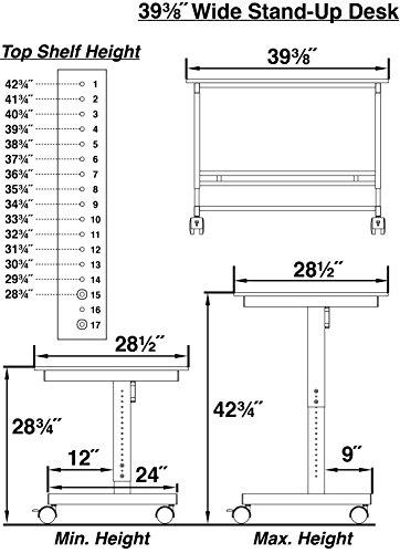 100cm-Lnge-Hhenverstellbarer-Schreibtisch-Rahmen-silber-Holz-schwarz