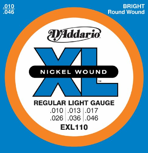D'Addario EXL110 XL Nickel Wound Regular Light  (.010-.046) Electric Guitar Strings