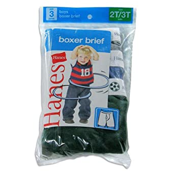 Hanes Toddler Boys Fashion Boxer Brief 3 Pack 2T-3T assorted colors