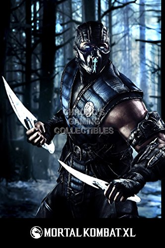 cgc-huge-poster-mortal-kombat-xl-sub-zero-ps4-xbox-one-x-ext378-24-x-36-61cm-x-915cm