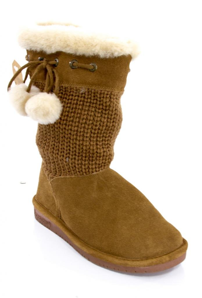 Bearpaw Women's 'Raina' Knitted Wool Boot in Hickory