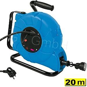 mobile 20 2 m profi automatik kabeltrommel ip44 mit h07rn f 3g kabel automatischer federzug. Black Bedroom Furniture Sets. Home Design Ideas