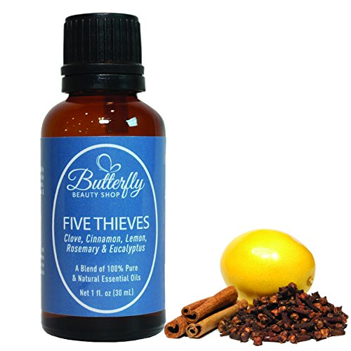 Five Thieves Blowout Sale! A Beautiful Combination of 5 Essential Oils: Clove, Cinnamon, Lemon, Rosemary & Eucalyptus. 100% Pure, Natural & Undiluted.