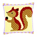 Vervaco Cross Stitch Cushion Squirrel with Acorn