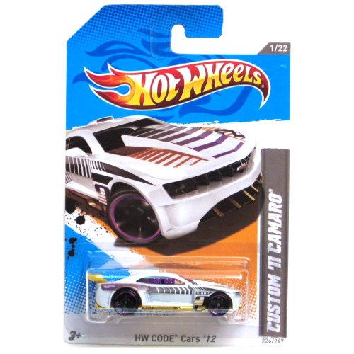 2012 Hot Wheels HW Code Cars Custom '11 Camaro White #226/247