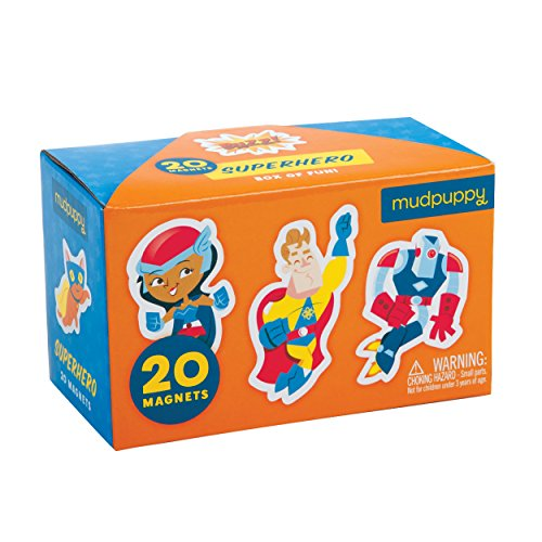 Mudpuppy Superhero Box of Magnets - 1
