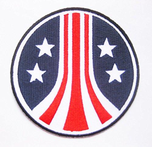 The Alien Aliens Stars & Stripes Round Uniform Crew LOGO sew iron on Patch Badge Embroidery 8.6 cm 3.4