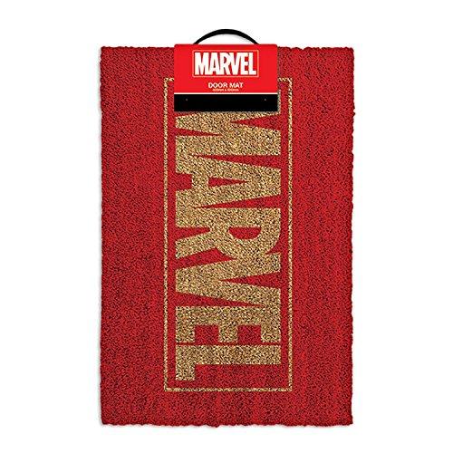 Logo Marvel-Tappetino per ingresso, in fibra di cocco, colore: multicolore
