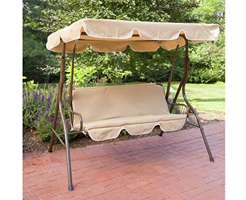 2 Person Outdoor Canopy Swing, Canopy Porch Swing front-60627