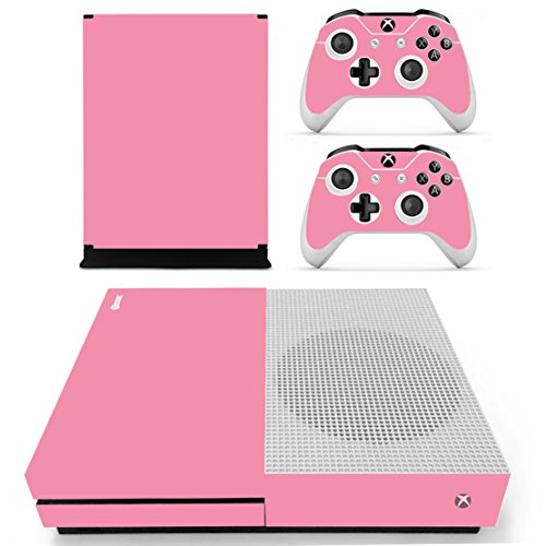 DOTBUY Vinile modello skin sticker decalcomanie della pelle per Xbox One S Console & Wireless Controller (All Pink)