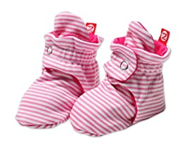 Zutano Baby-Girls Infant Candy Stripe Bootie, Hot Pink, 12 Months