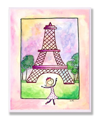 The Kids Room by Stupell Girl in Paris Rectangle Wall Plaque (Paris Memo Board compare prices)
