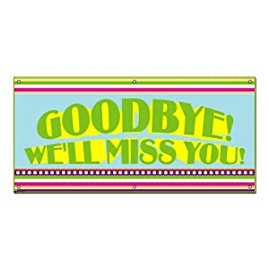 Amazon.com: Goodbye We'll Miss You Colorful Stripes - Retirement Party ...