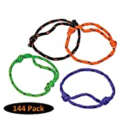 12 Dozen (144) Friendship Rope Bracelets; Perfect for Classroom Giveaways; Party Favors;