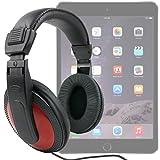 DURAGADGET Auriculares Estéreo Rojos Para Apple iPad Air 2 ( Wi-Fi, Wi-Fi + Cellular ) - De Alta Calidad Con Cable De 2 Metros- Disponibles En Color Negro