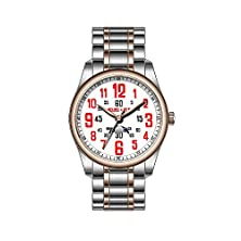 buy F-P-Watch Stainless Steel Plated Rose Gold Watch Stainless Steel Bracelet Men'S Watch F-323-P-413 Personalized Wristwatch