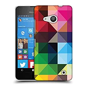 Snoogg colorful rhombuses Designer Protective Back Case Cover For Nokia Lumia 550