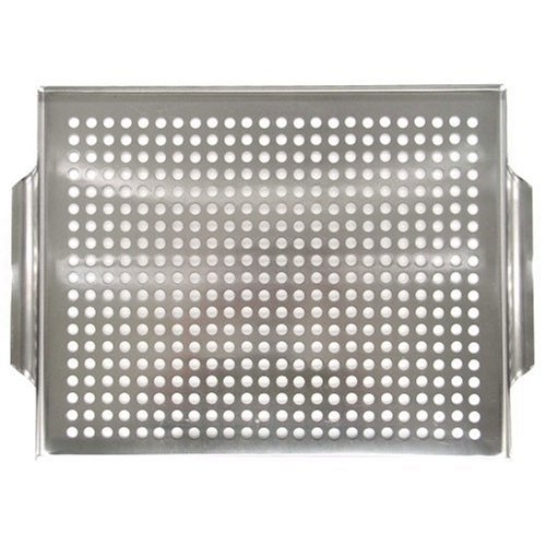 Mr Bar B Q 06032X Platinum Prestige Stainless Steel Grill Topper (Grill Steel compare prices)
