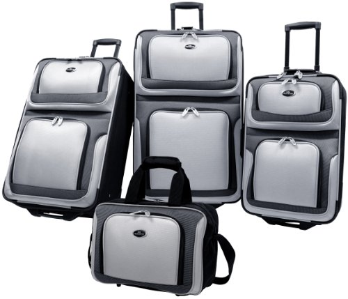 us-traveler-new-yorker-4-piece-luggage-set-expandable-grey-one-size
