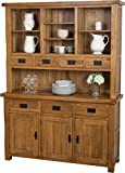 Hermosa Kendal Solid Dresser with Lacquer Finish, Oak/Brown, Large, 139 x 43 x 190 cm