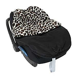 Isabella Alicia Born To Be Wild Luxury Snow Leopard Print Car Seat Cosey Toes 0+ Infant Carrier