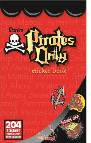WeGlow International Pirate Only Sticker Book (Pack of 4)